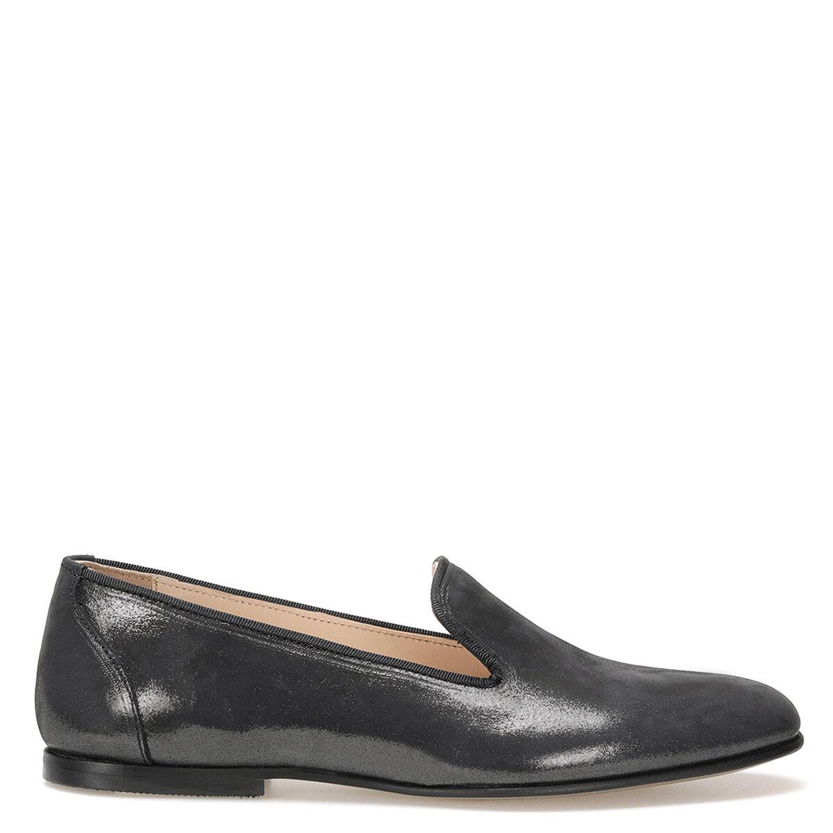 PERO Antrasit Kadın Loafer Ayakkabı