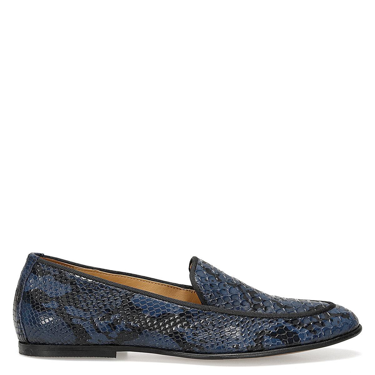 PERONI Lacivert Kadın Loafer Ayakkabı