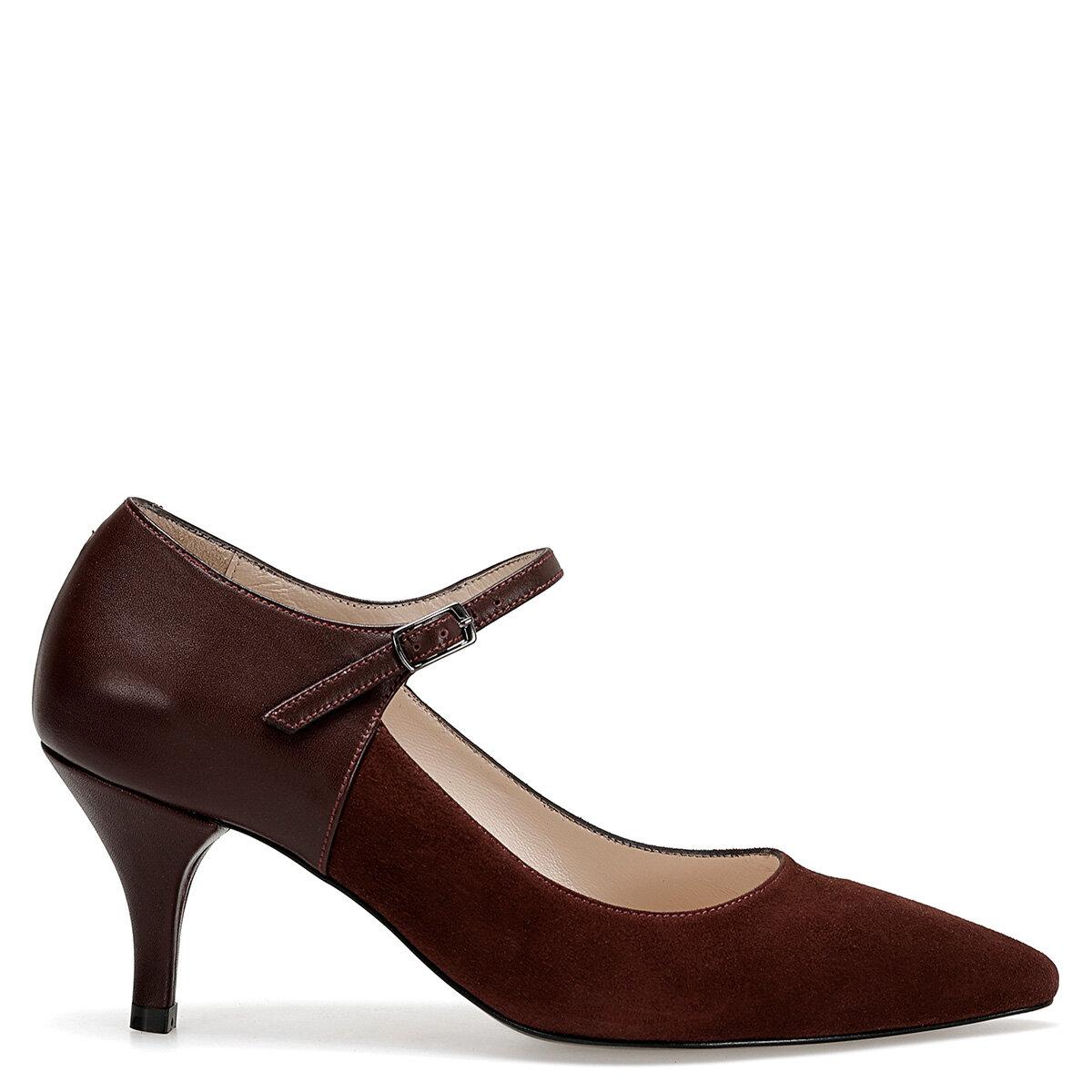 ARLI Bordo Kadın Topuklu Ayakkabı
