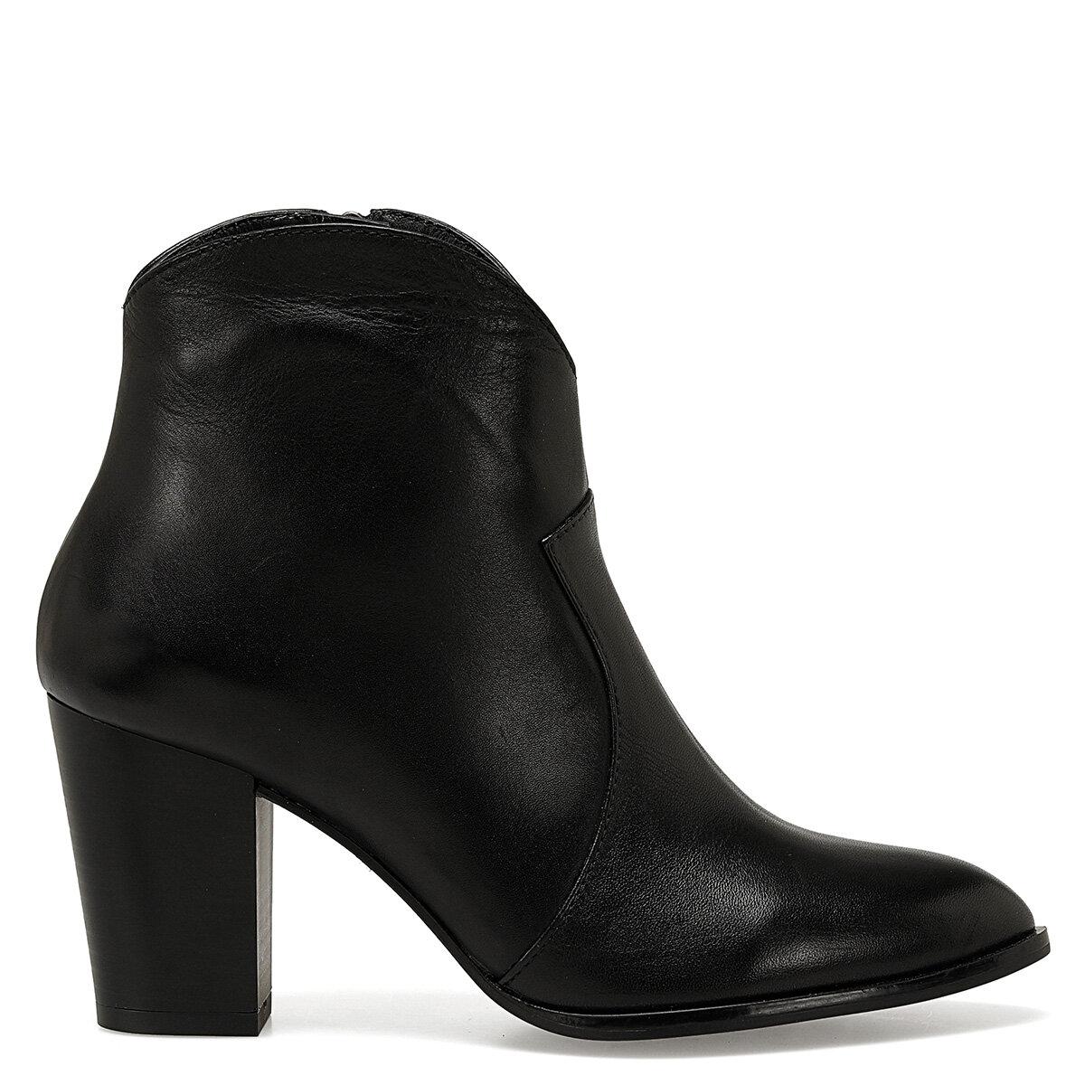 KONA Siyah Kadın Topuklu Bot