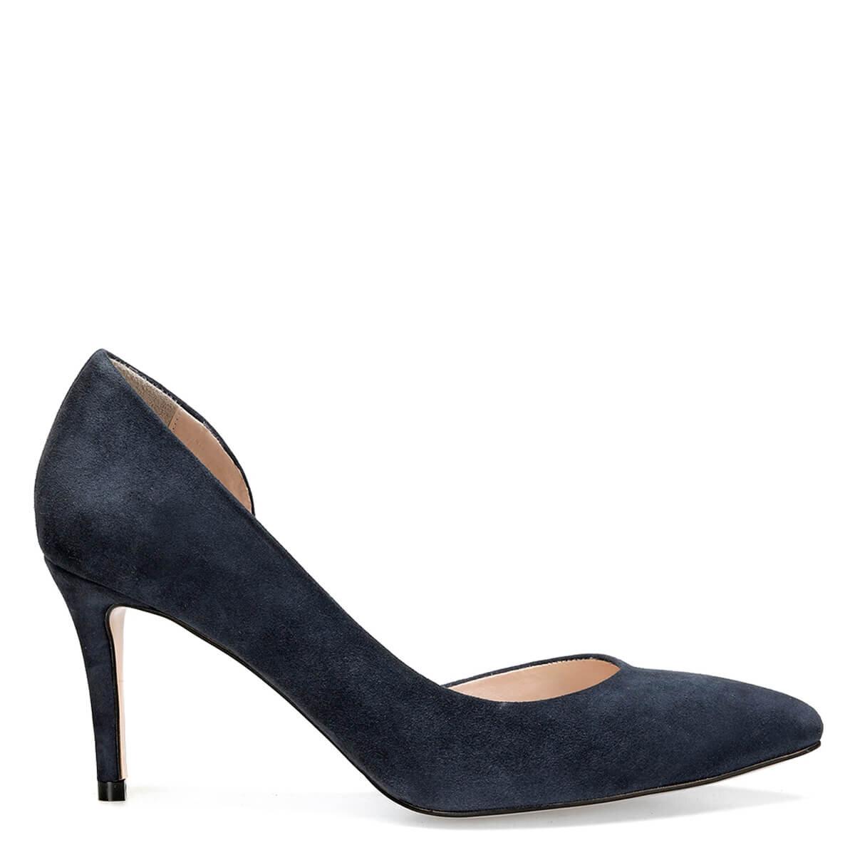 TIKKA Lacivert Kadın Topuklu Ayakkabı
