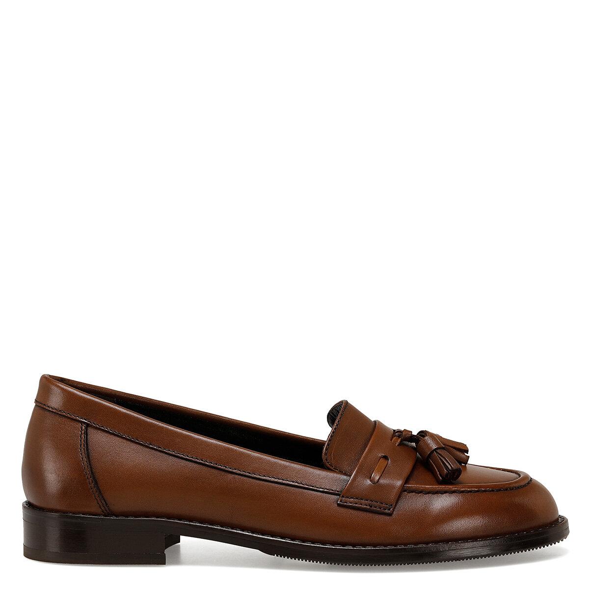 HOGAN Taba Kadın Loafer Ayakkabı