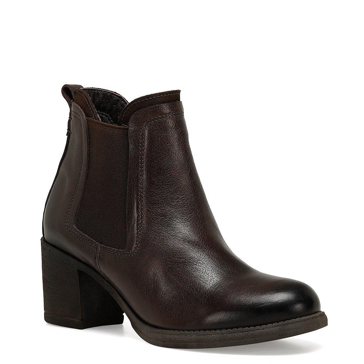 BOLDA Kahverengi Kadın Topuklu Bot