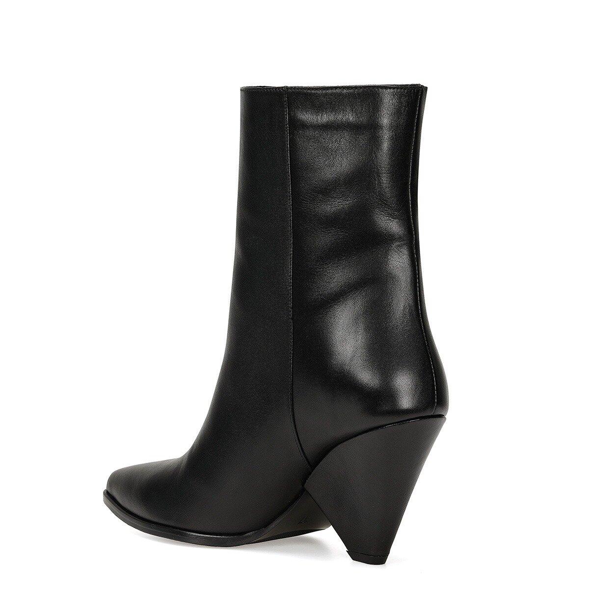 FETA Siyah Kadın Topuklu Bot