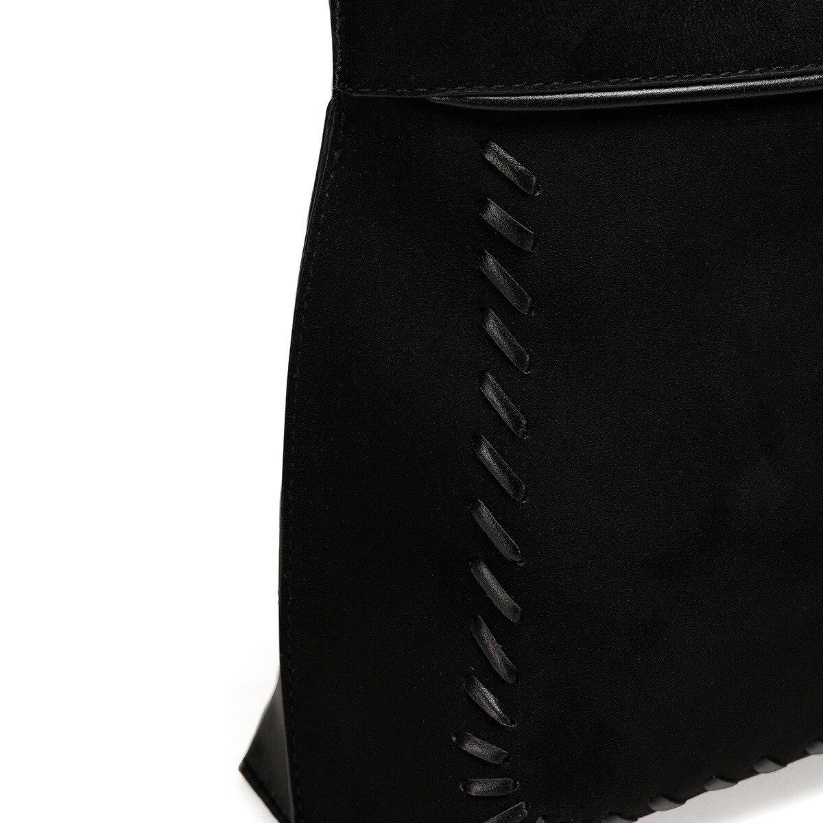SUETA Siyah Kadın Çapraz Çanta
