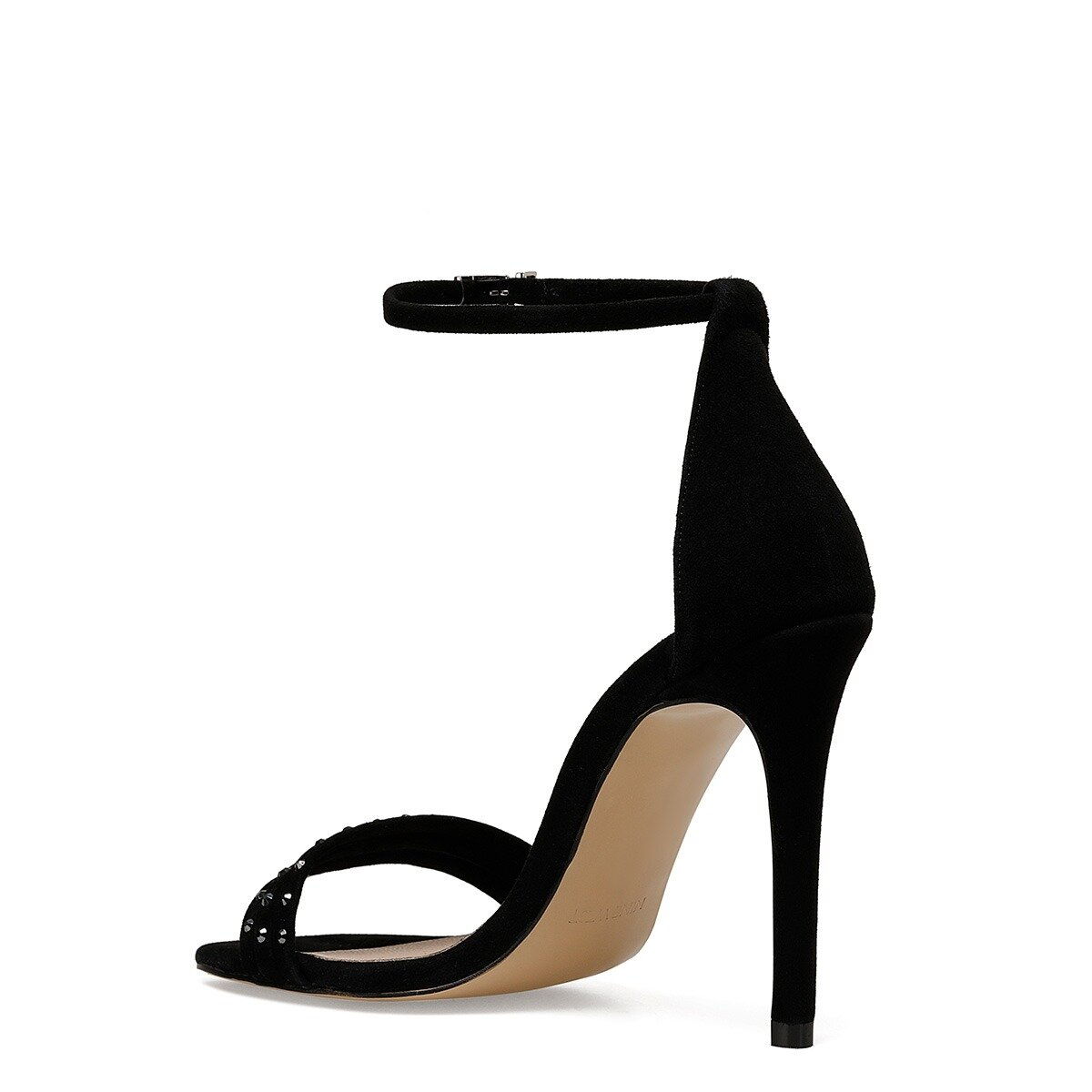 MYBELO Siyah Kadın Topuklu Ayakkabı