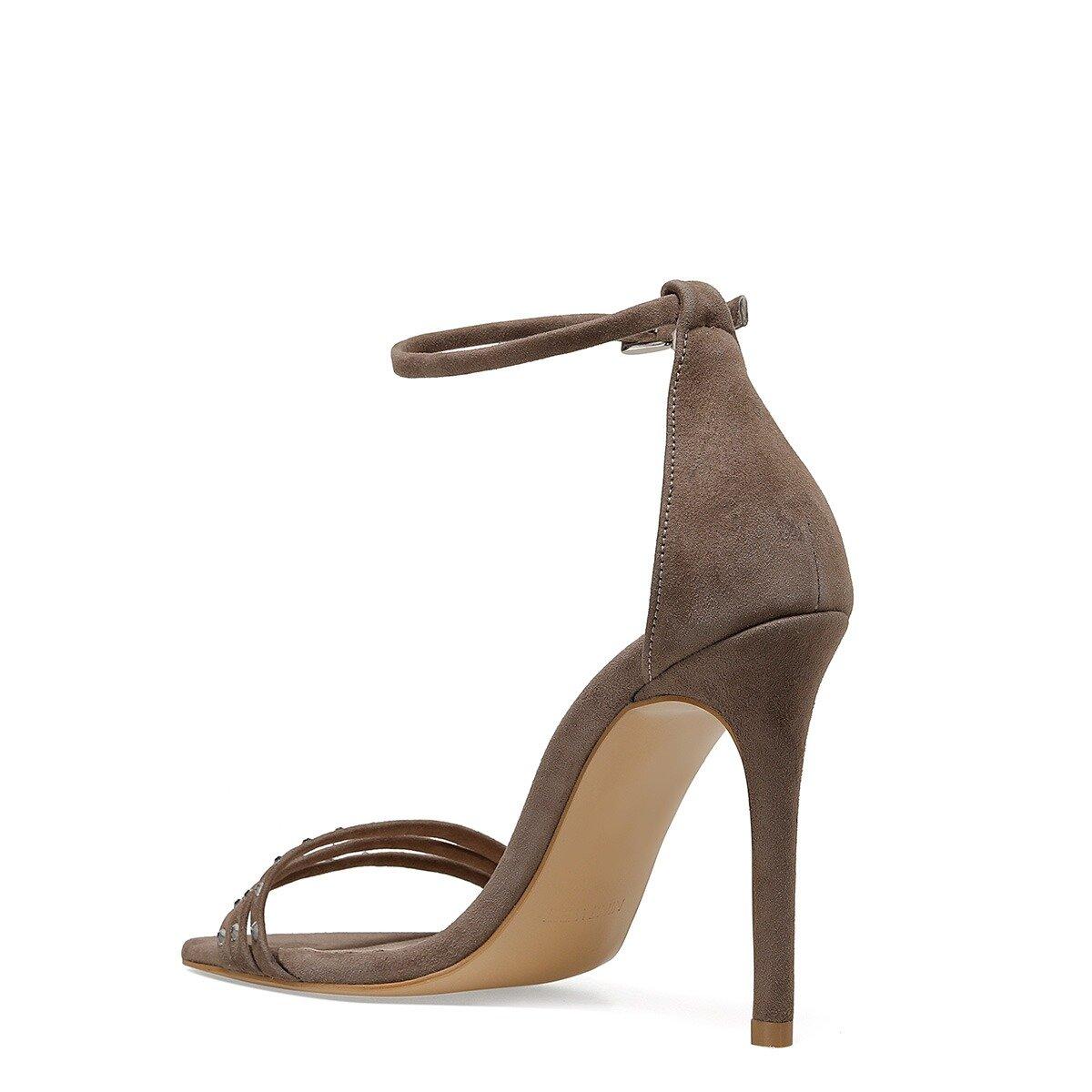 MYBELO Vizon Kadın Topuklu Ayakkabı