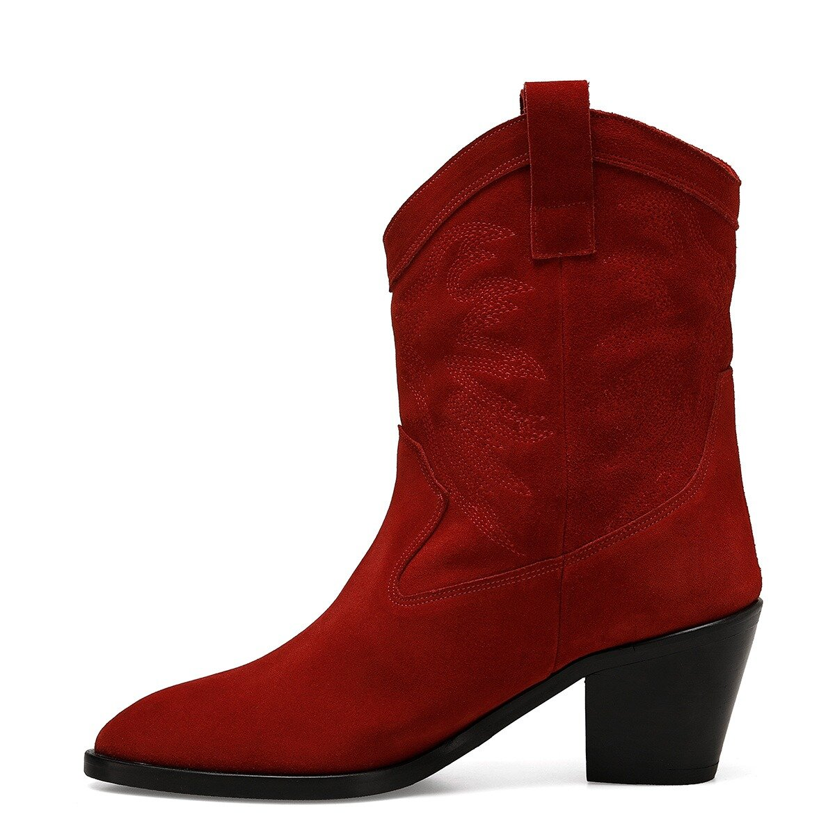 OLIVA Kırmızı Kadın Topuklu Bot