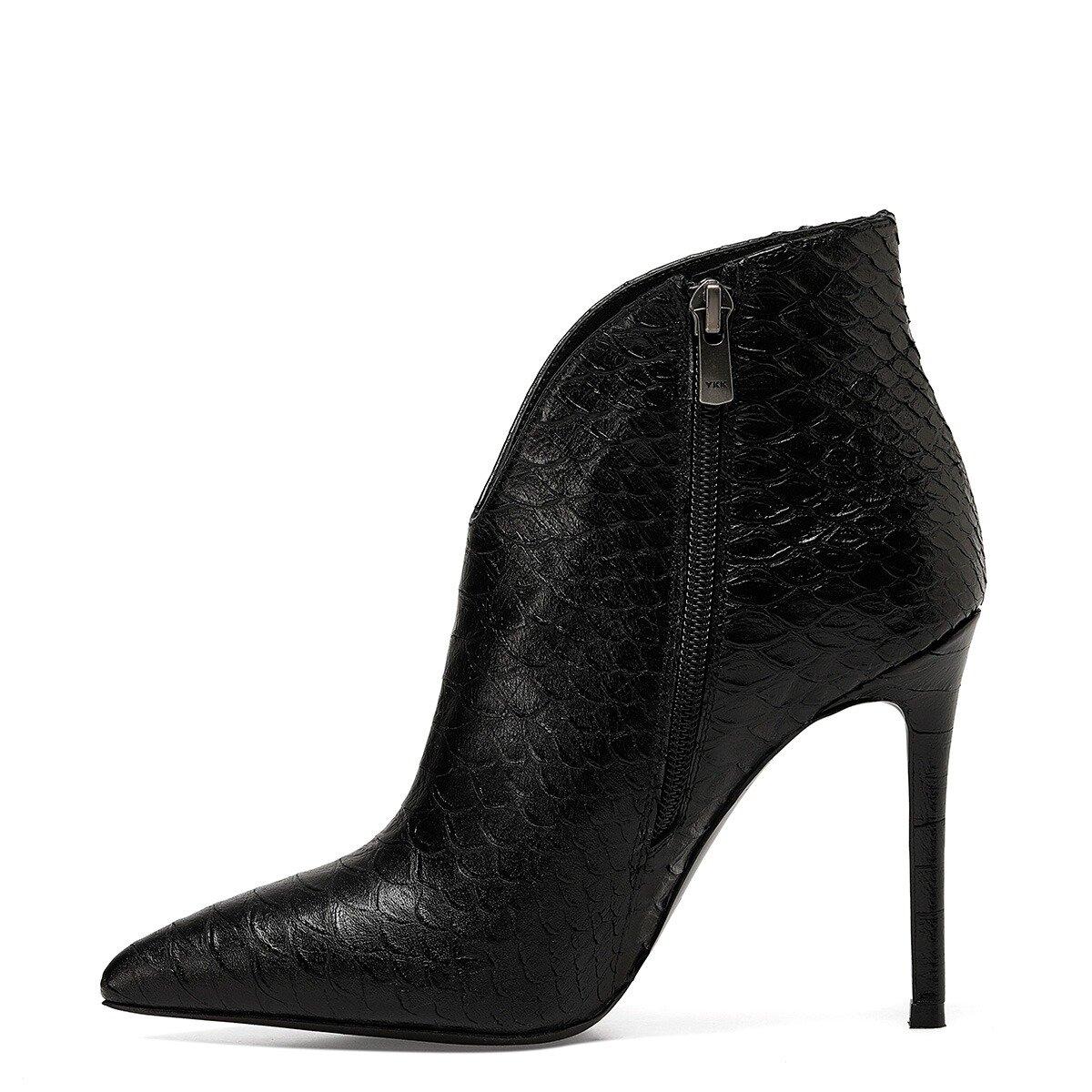 TERY Siyah Kadın Topuklu Bot
