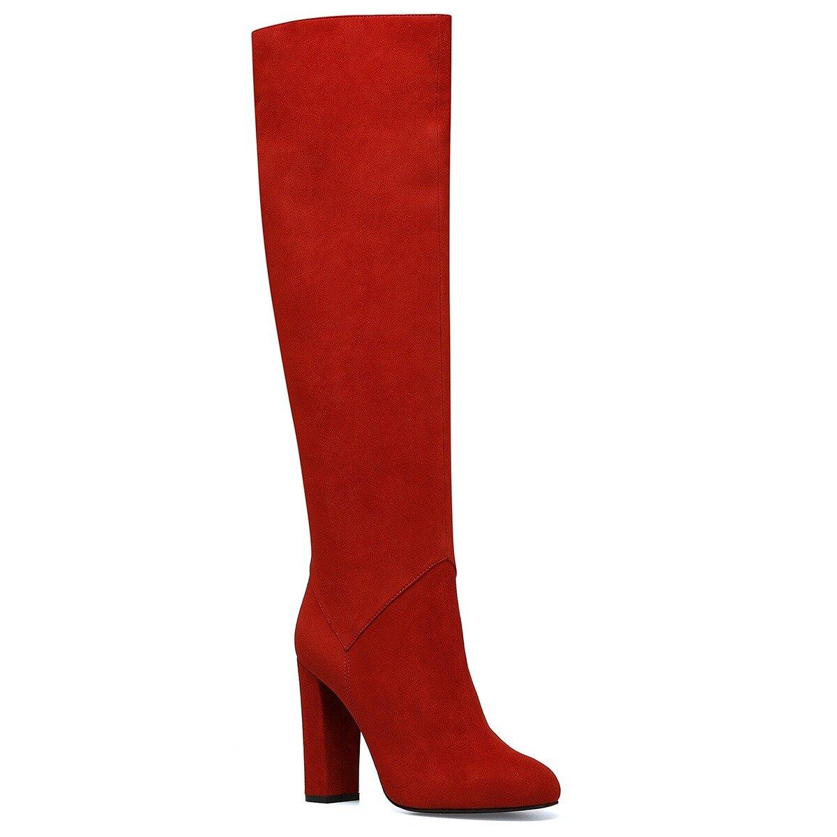 XTRA Kırmızı Kadın Topuklu Çizme
