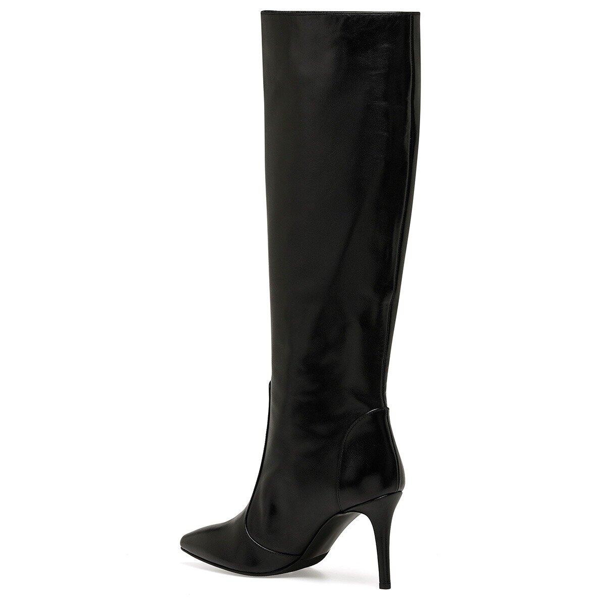 TERRA Siyah Kadın Topuklu Çizme