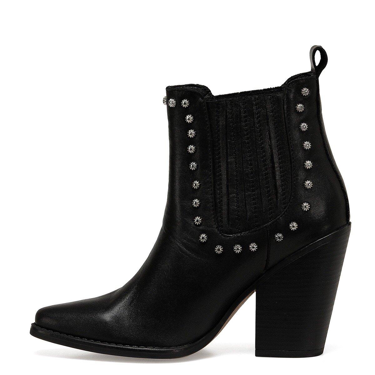 WESTE Siyah Kadın Topuklu Bot