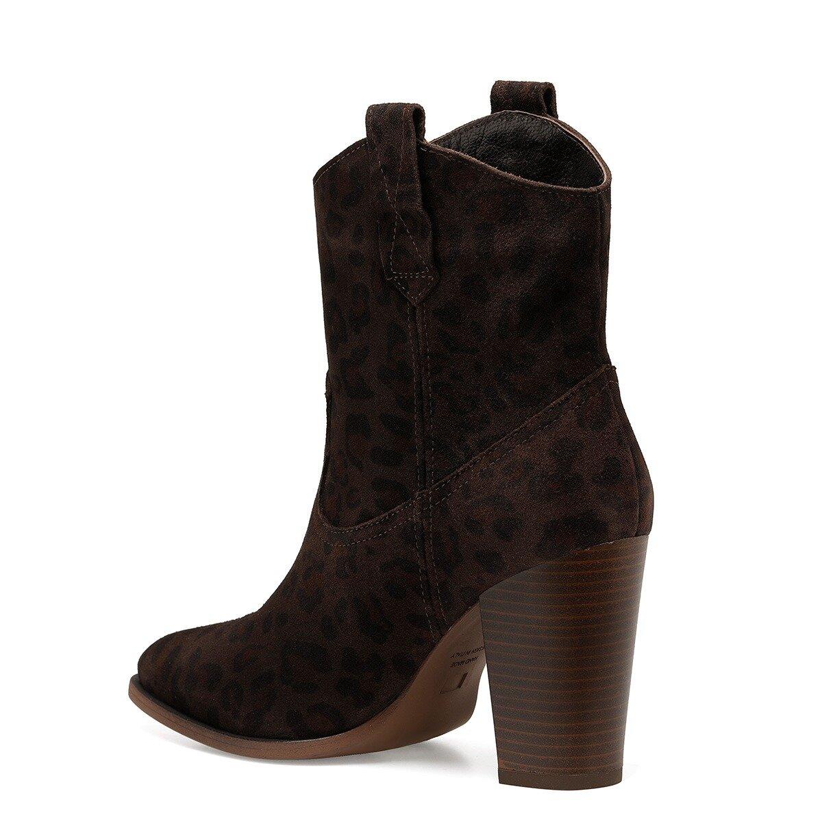 WILDY Kahverengi Kadın Topuklu Bot