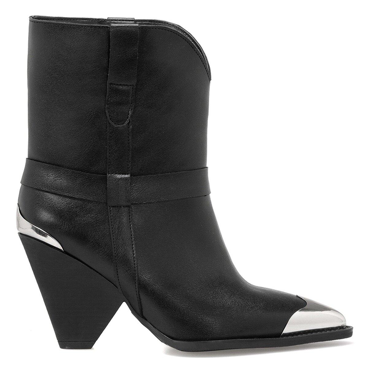 BELLA Siyah Kadın Topuklu Bot