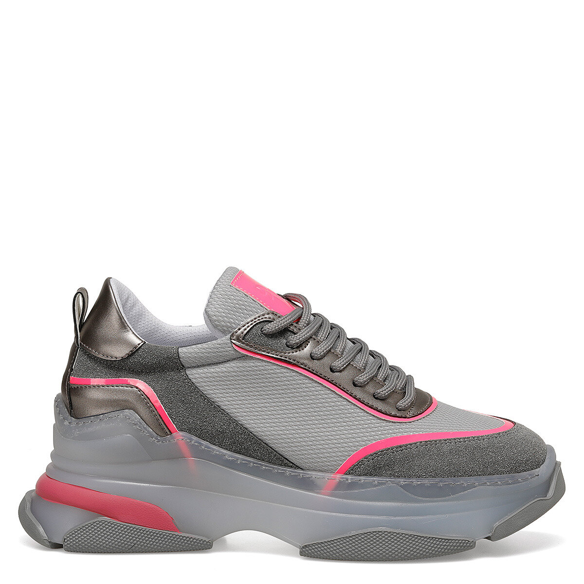 ROGANA Gri Kadın Sneaker Ayakkabı