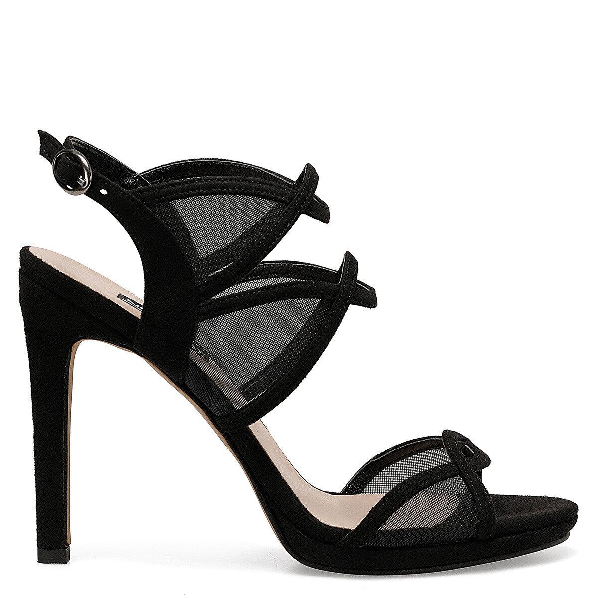 MIYA Siyah Kadın Topuklu Sandalet