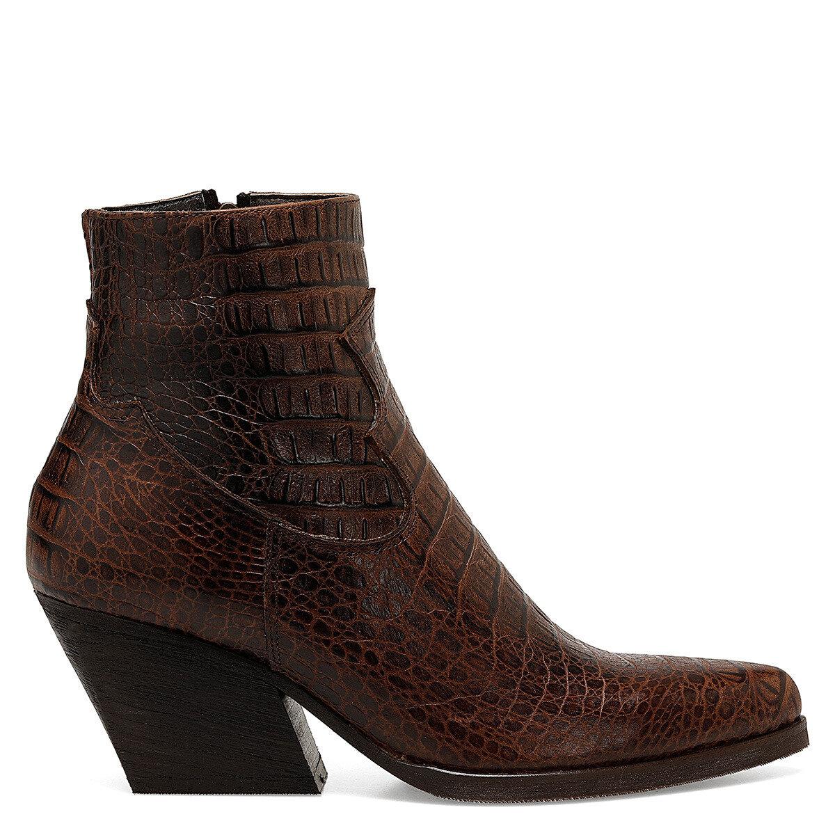 WESTOR Kahverengi Kadın Topuklu Bot
