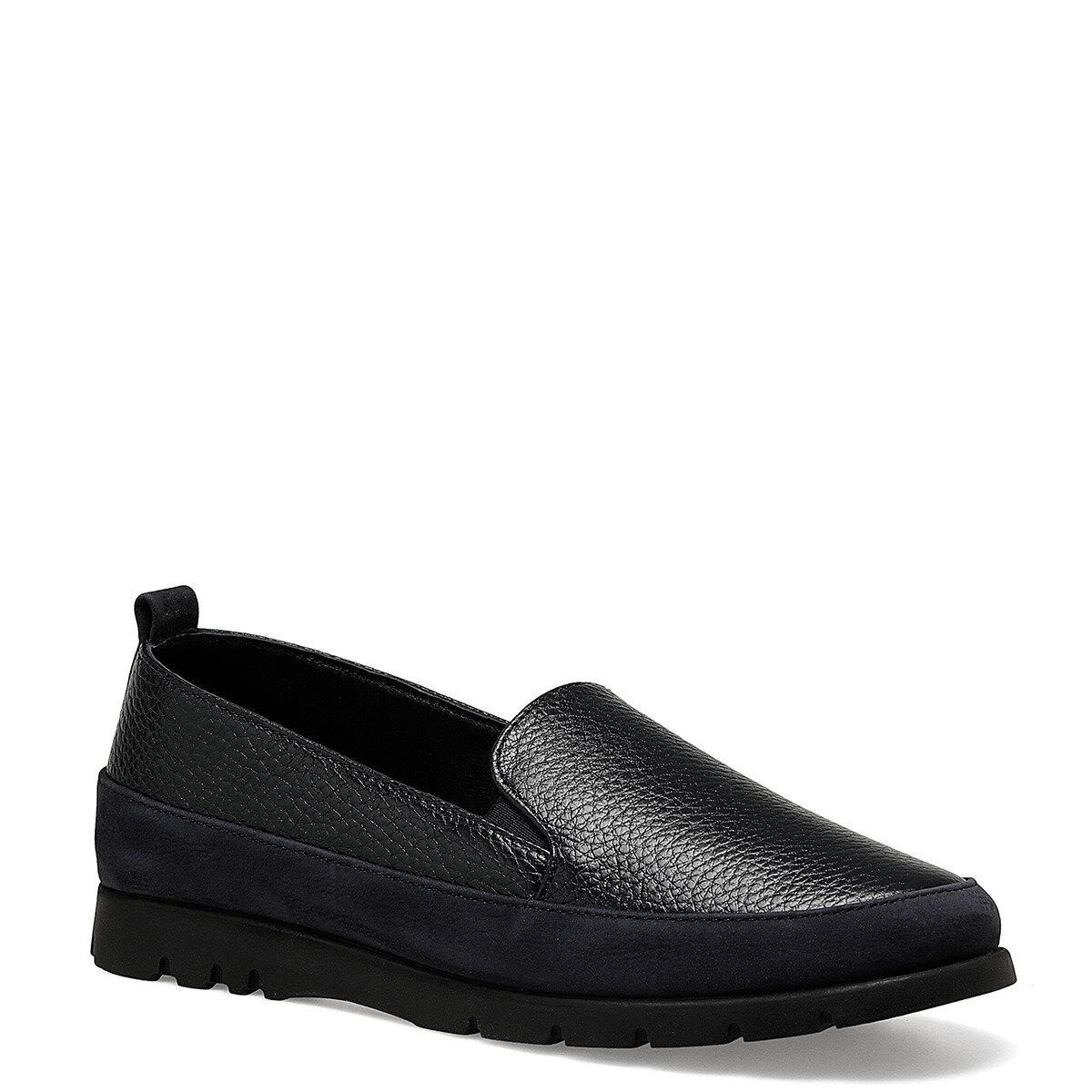 BASI Lacivert Kadın Loafer Ayakkabı