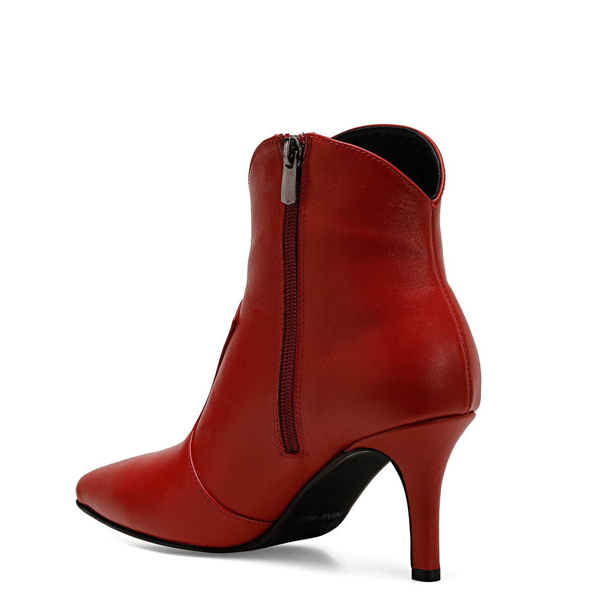 WINCO Kırmızı Kadın Topuklu Bot