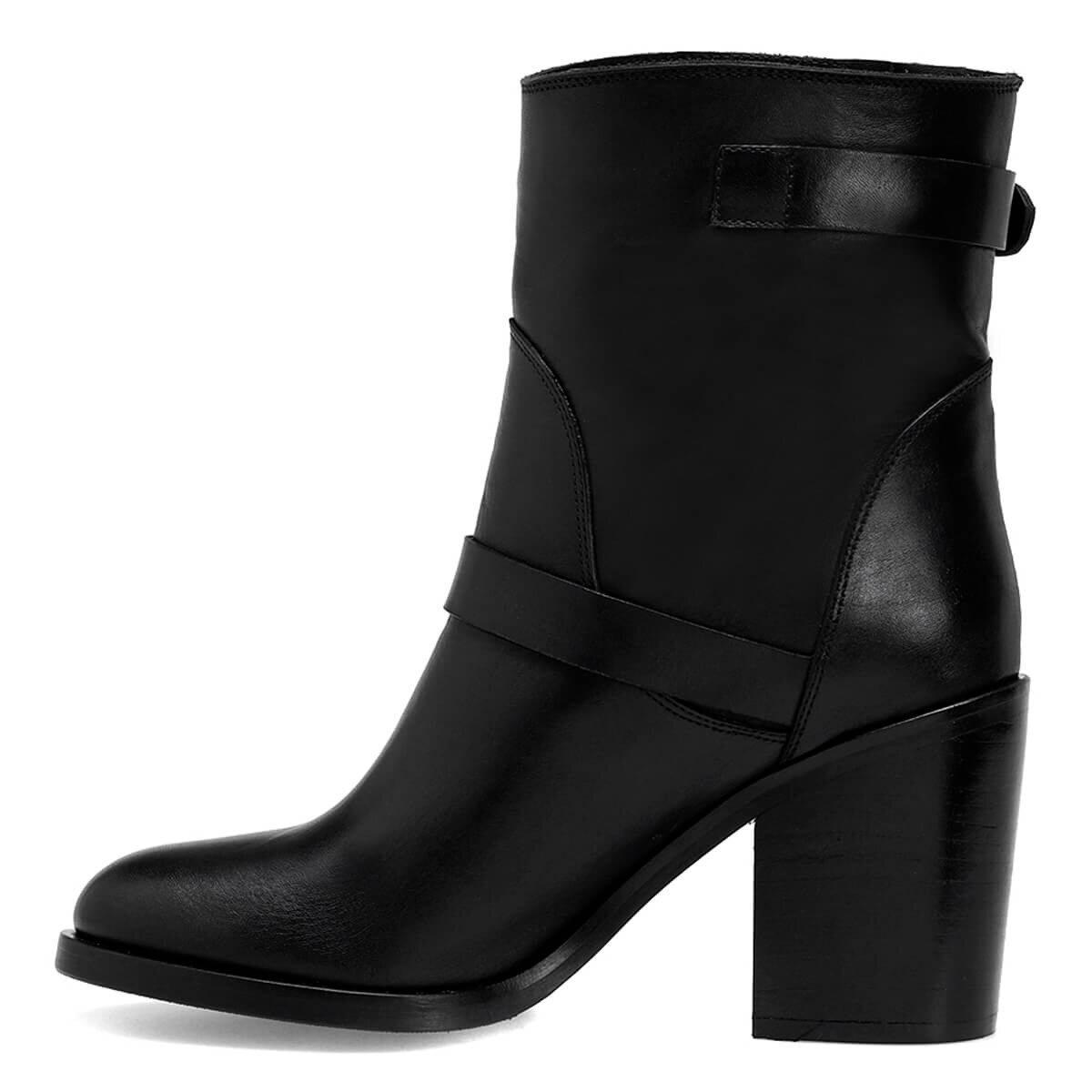 CERA2 Siyah Kadın Topuklu Bot