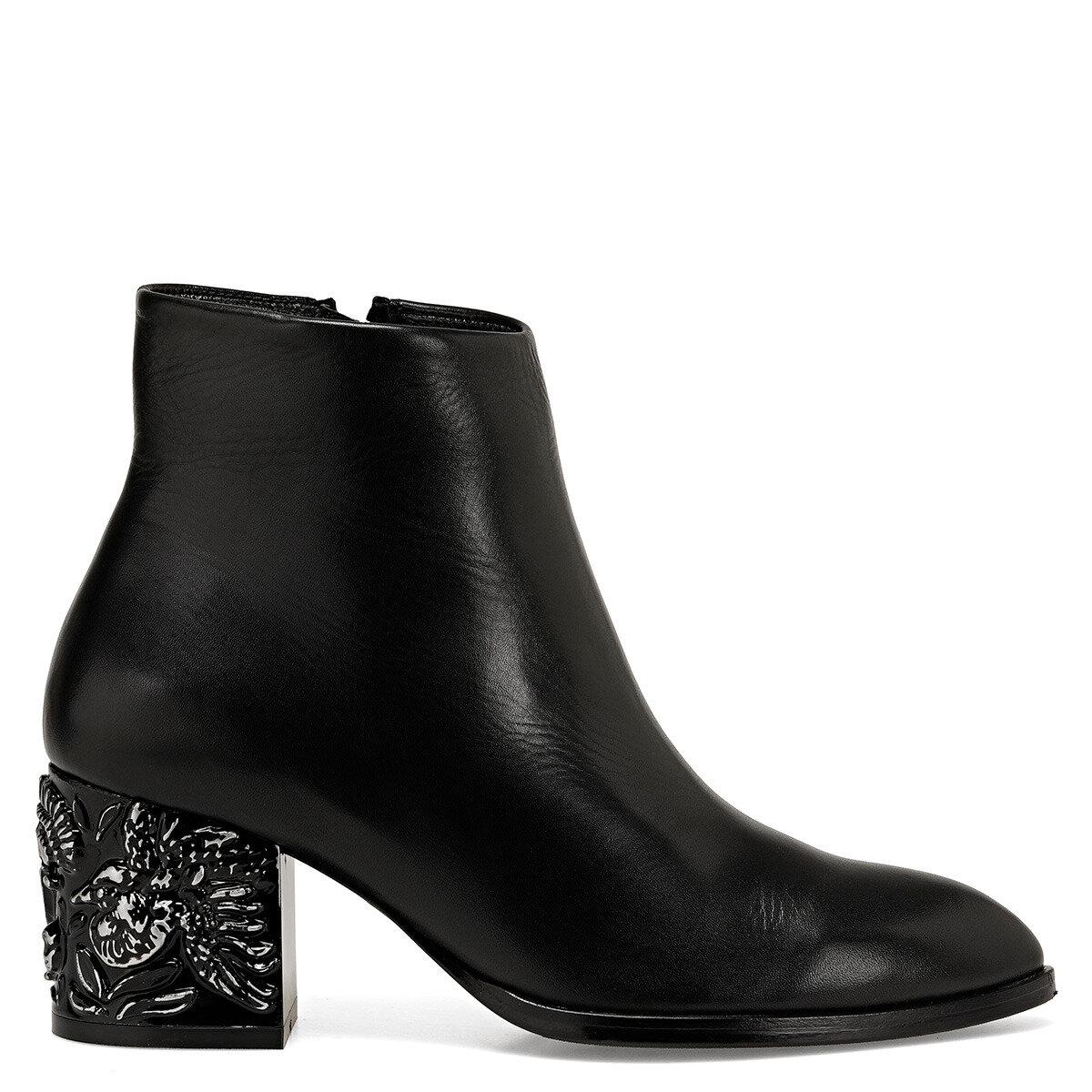YAMA Siyah Kadın Topuklu Ayakkabı