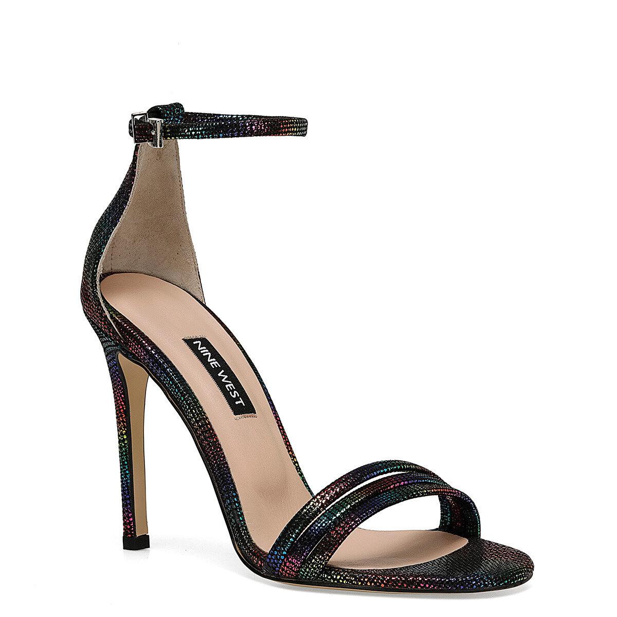 MYBELO Çok Renkli Kadın Topuklu Ayakkabı