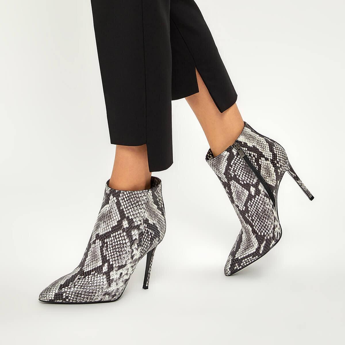 TARYN Gri Kadın Topuklu Bot