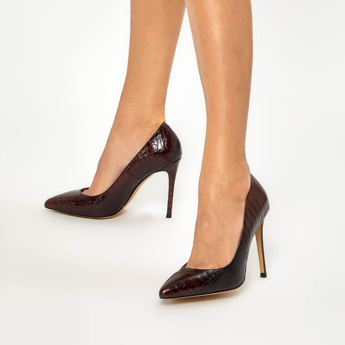 TATIE2 Kahverengi Kadın Stiletto