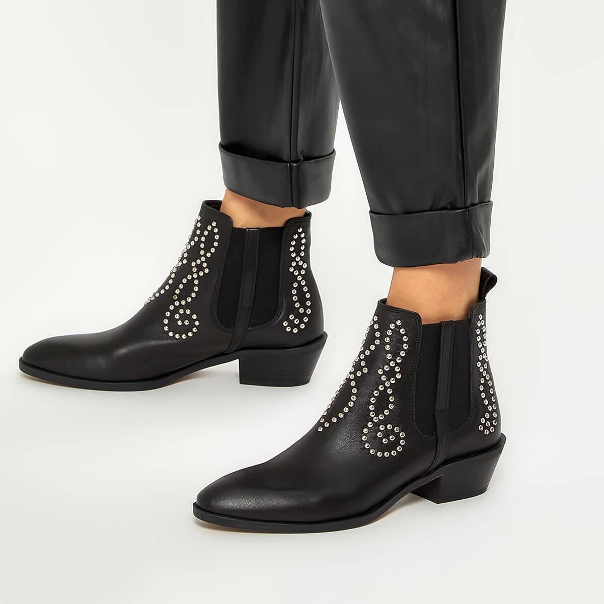 WEAL Siyah Kadın Topuklu Bot