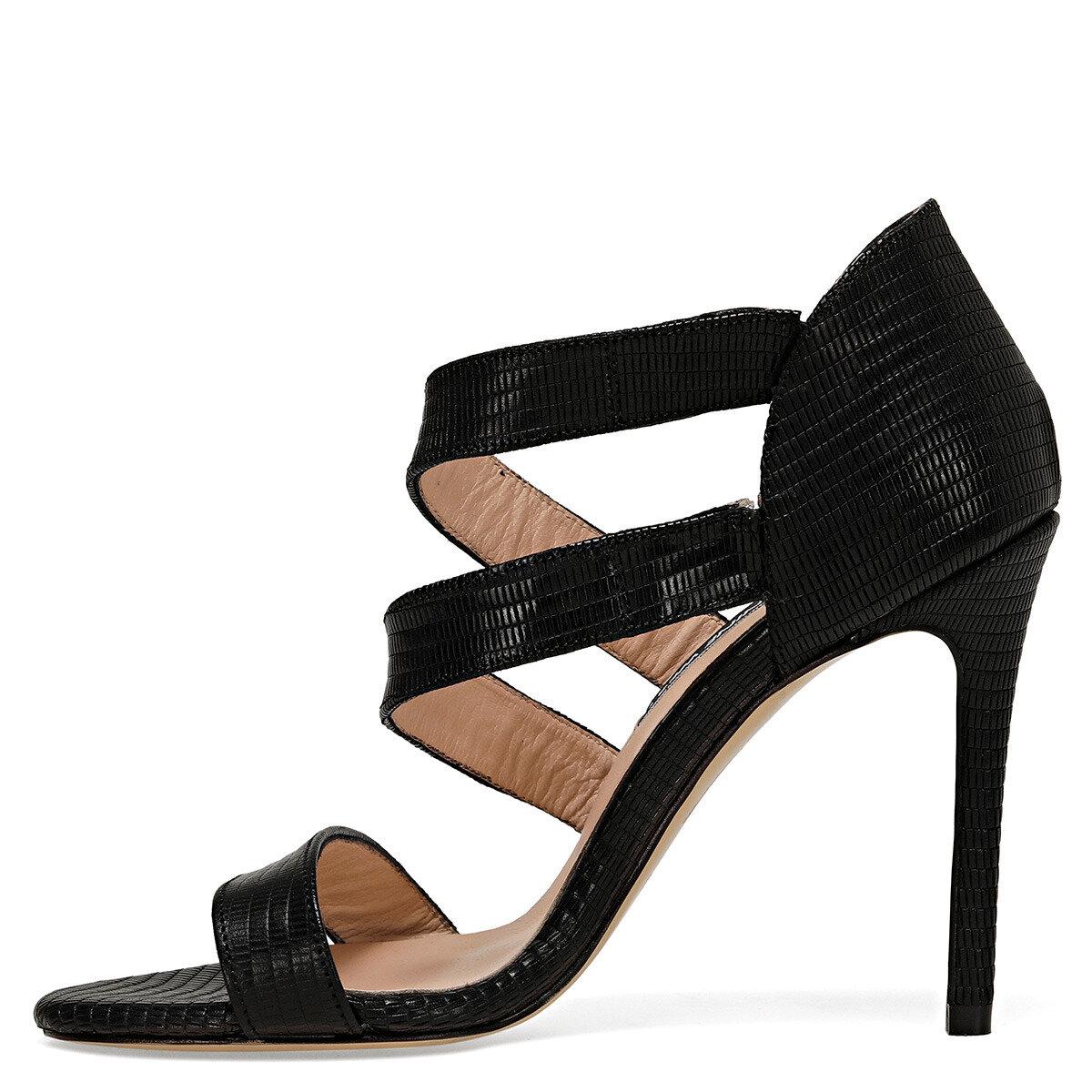 MYALL Siyah Kadın Topuklu Ayakkabı