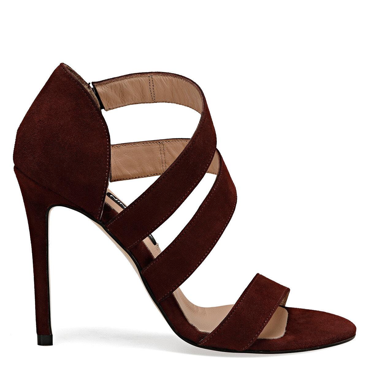 MYALL Bordo Kadın Topuklu Ayakkabı