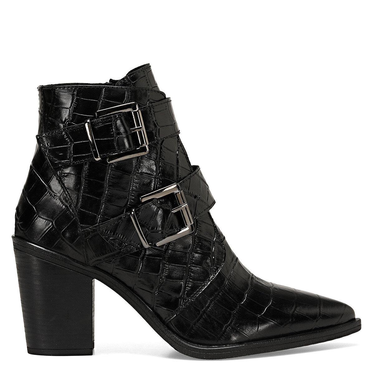 BUCLE Siyah Kadın Topuklu Bot