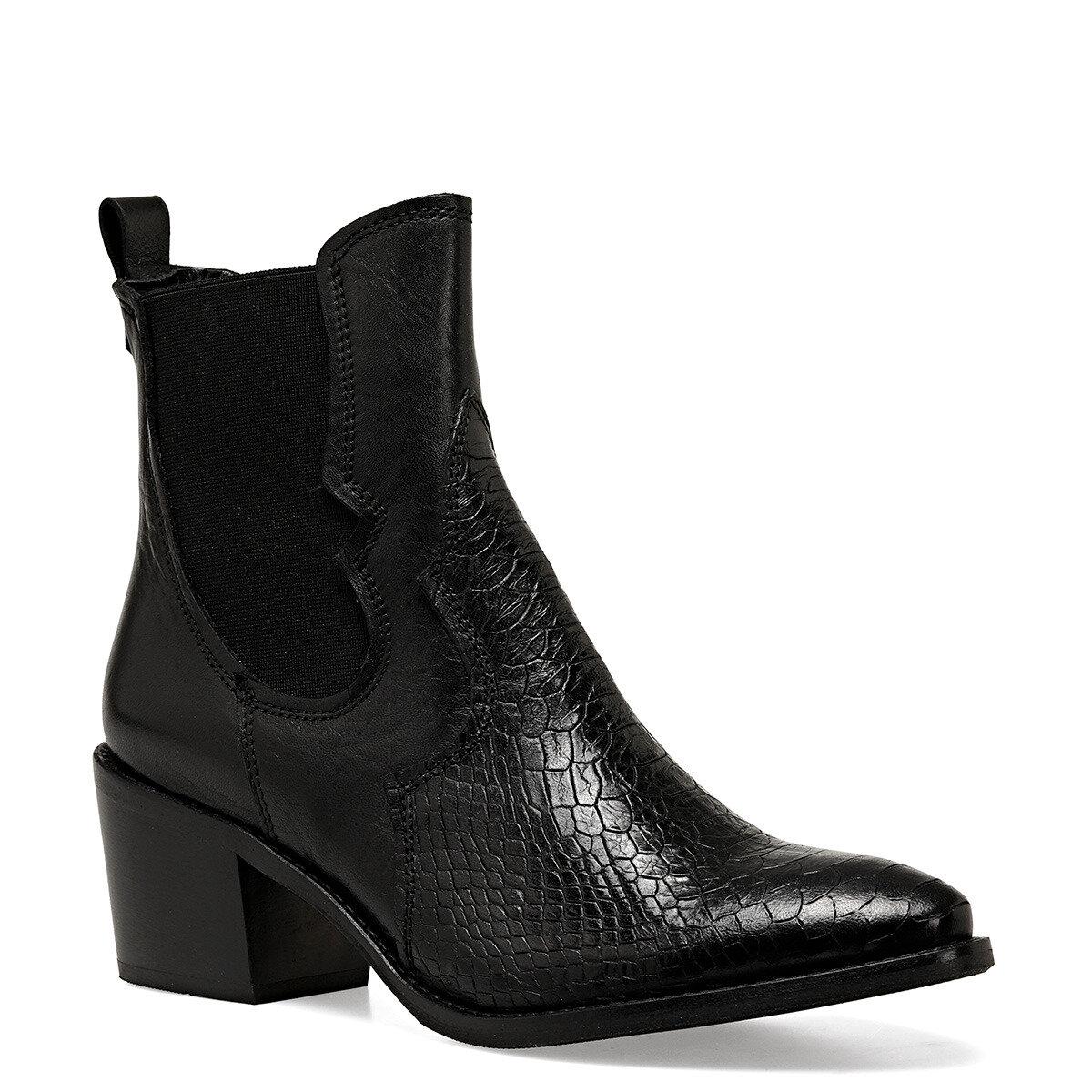CILENTO Siyah Kadın Topuklu Bot