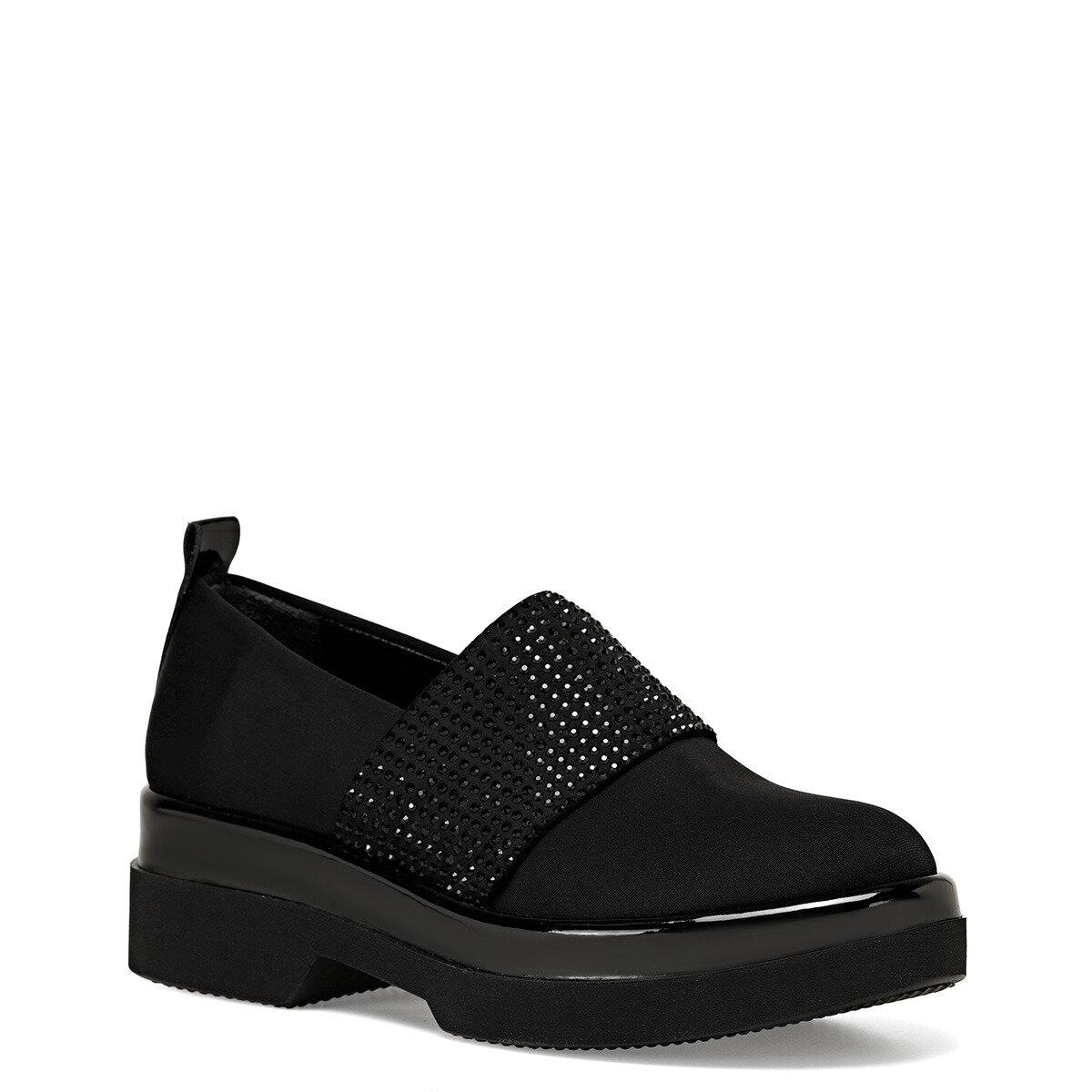 GUNA Siyah Kadın Loafer Ayakkabı