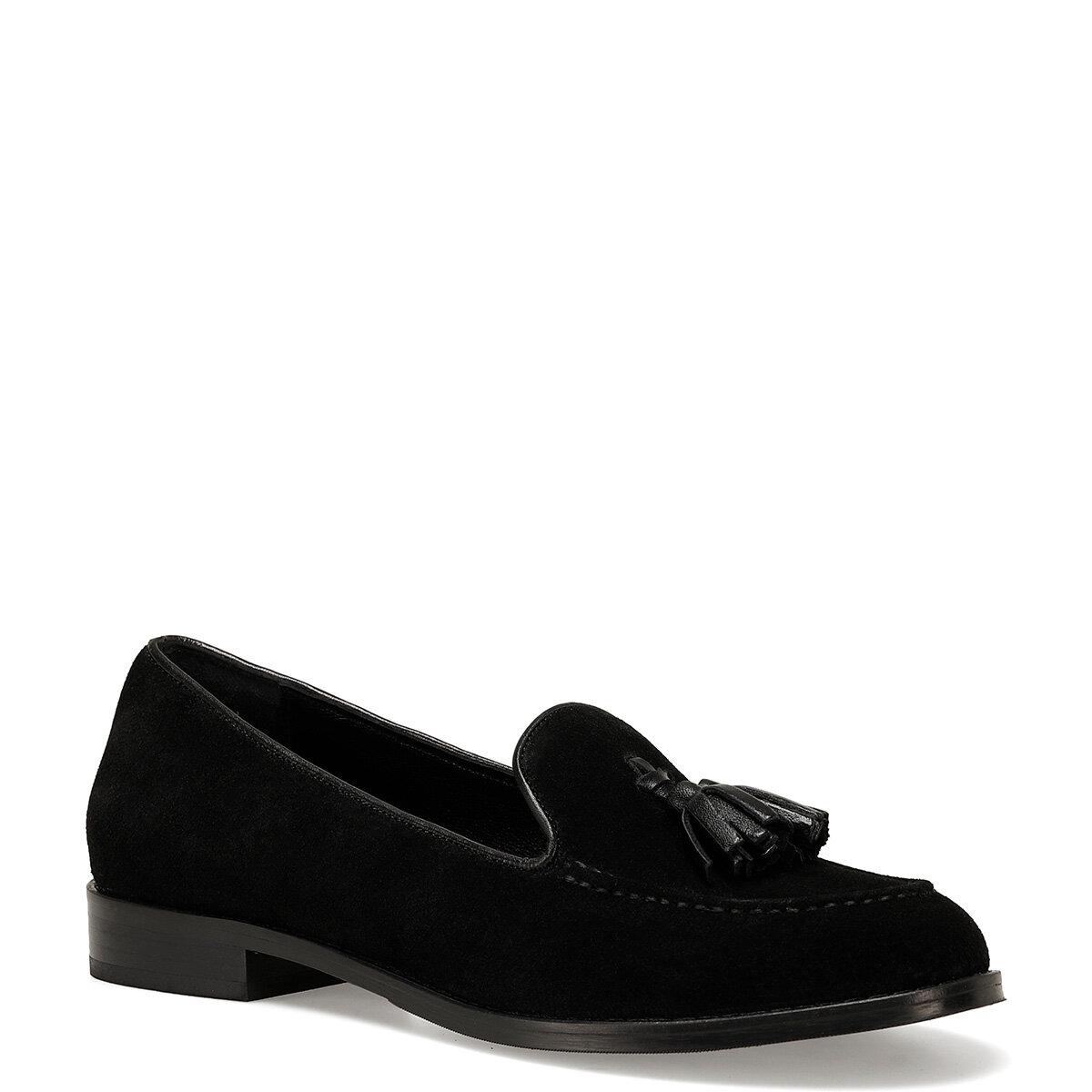 JACOB Siyah Kadın Loafer Ayakkabı