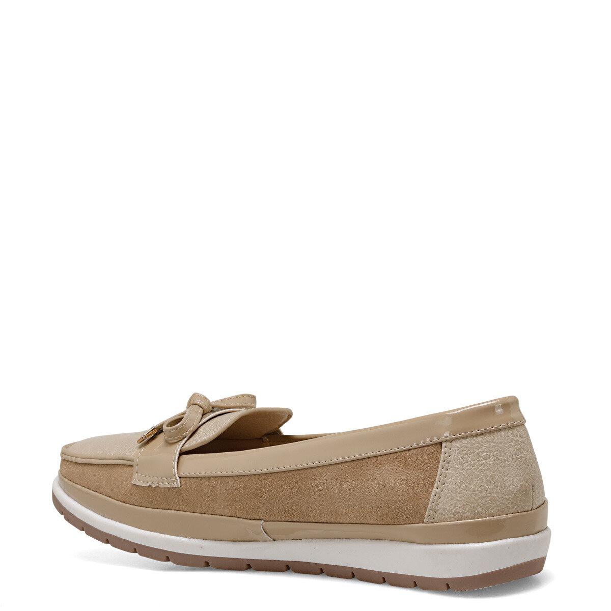 BELTEN Bej Kadın Loafer Ayakkabı