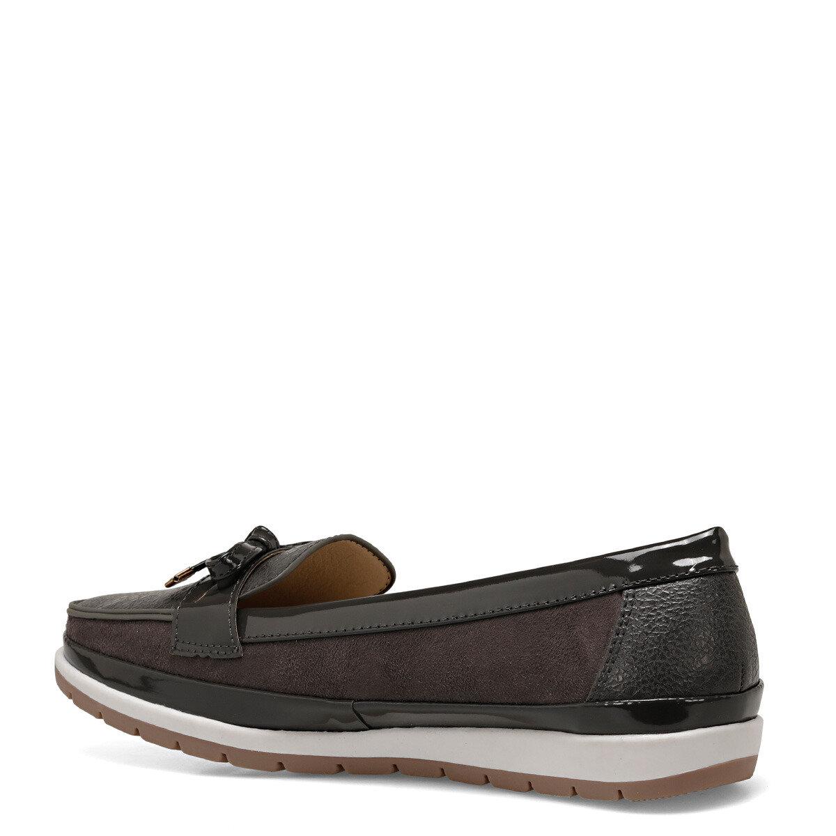 BELTEN Gri Kadın Loafer Ayakkabı
