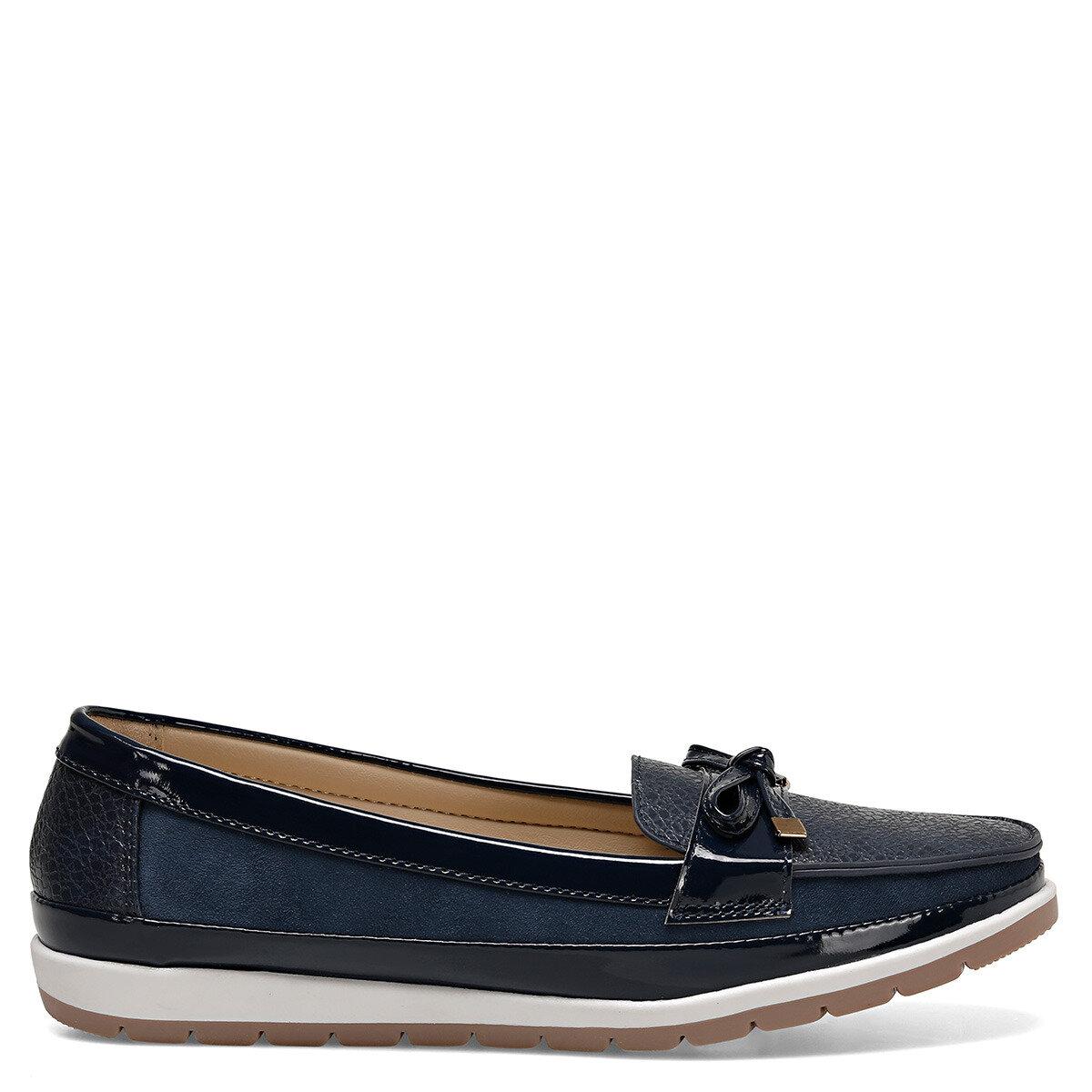 BELTEN Lacivert Kadın Loafer Ayakkabı