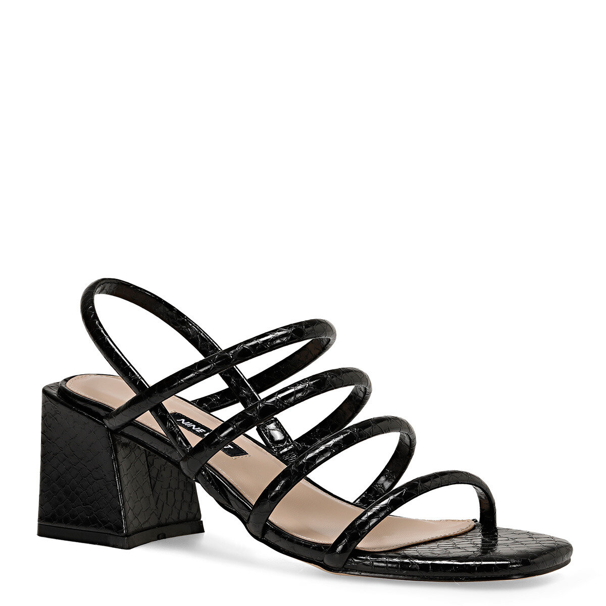 LAMAR Siyah Kadın Topuklu Sandalet