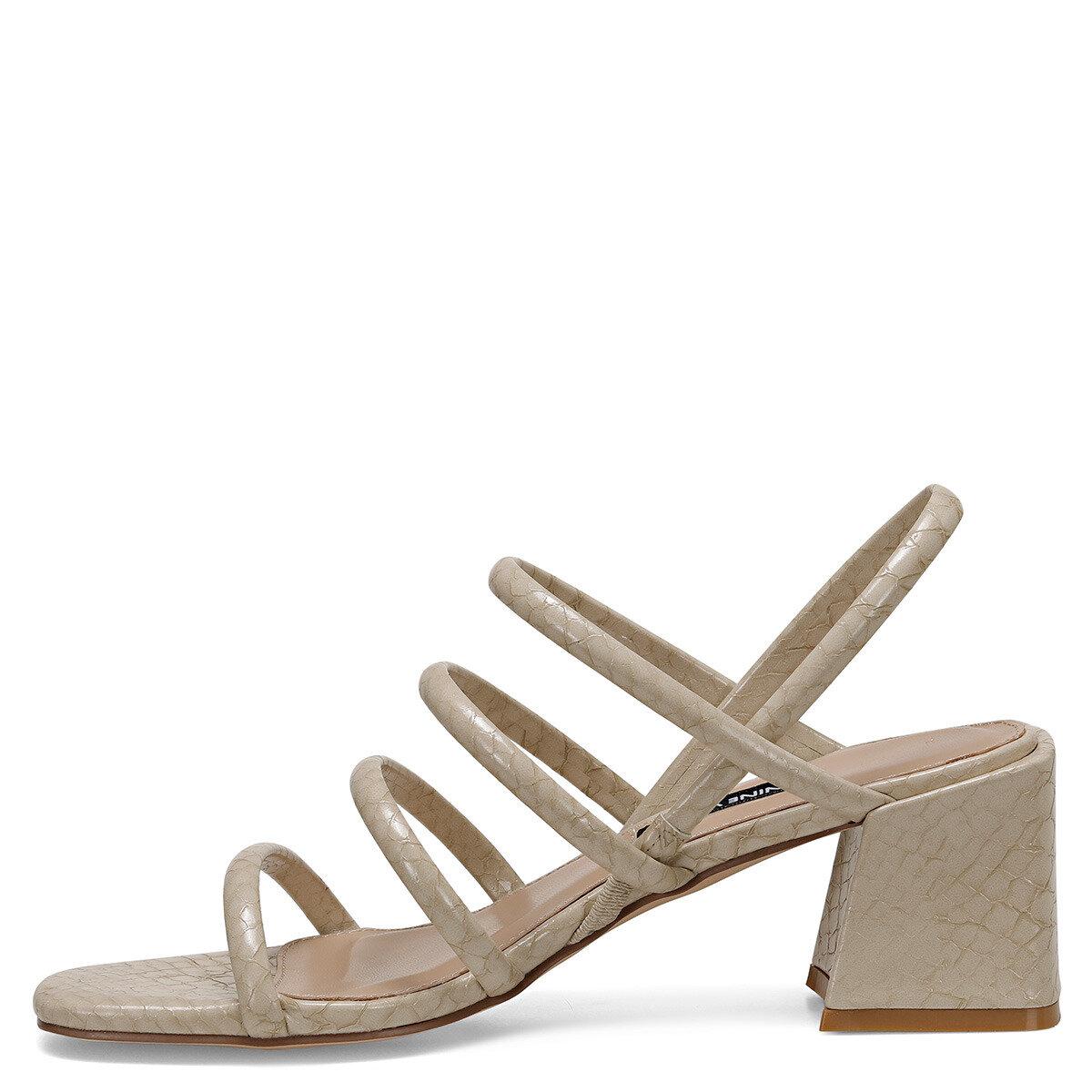 LAMAR Bej Kadın Topuklu Sandalet