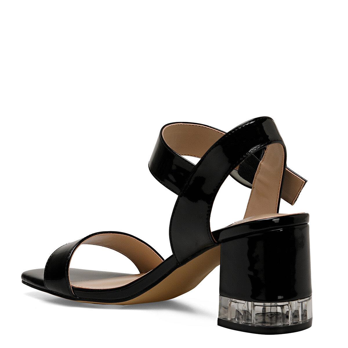 LENA Siyah Kadın Topuklu Sandalet