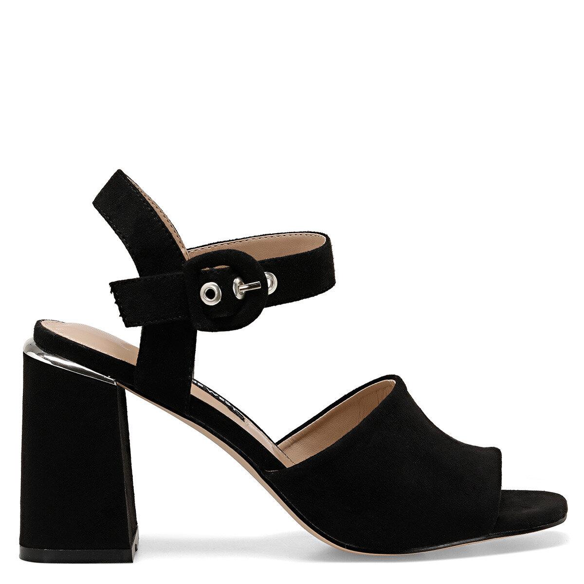 LONELLA Siyah Kadın Topuklu Sandalet