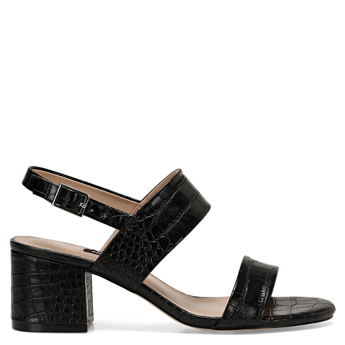 LOREN Siyah Kadın Topuklu Sandalet