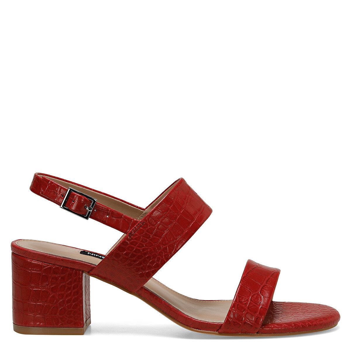 LOREN Kırmızı Kadın Topuklu Sandalet