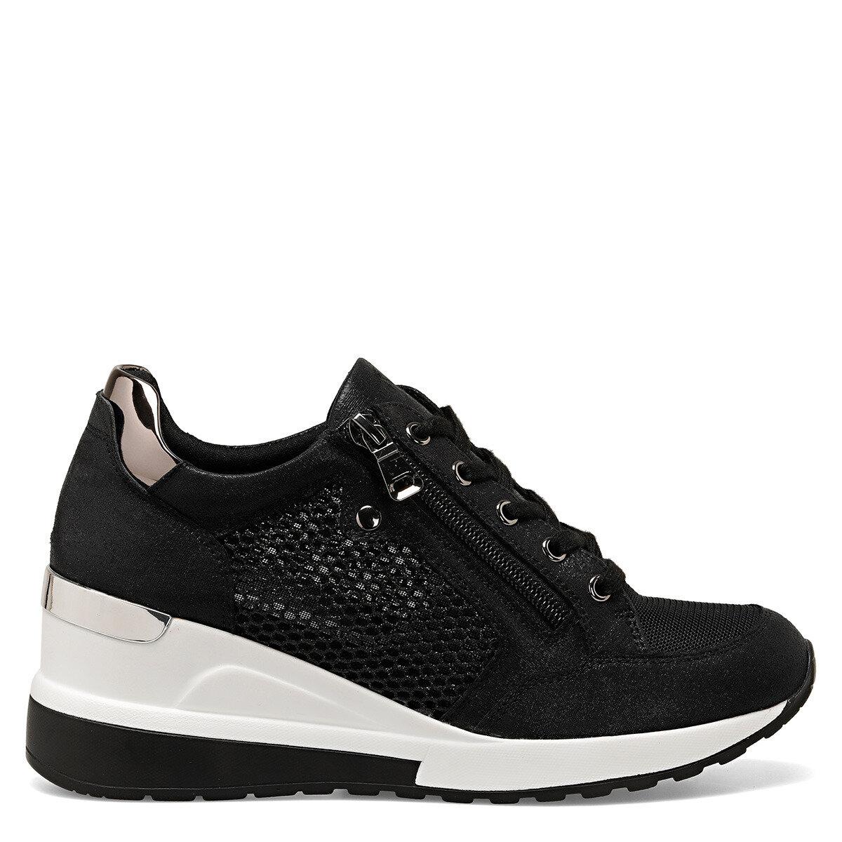 RANA Siyah Kadın Dolgu Topuk Ayakkabı