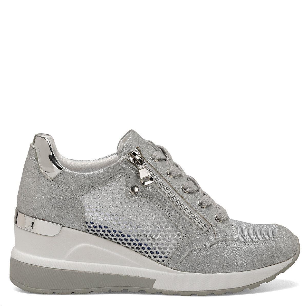RANA Gümüş Kadın Dolgu Topuk Ayakkabı