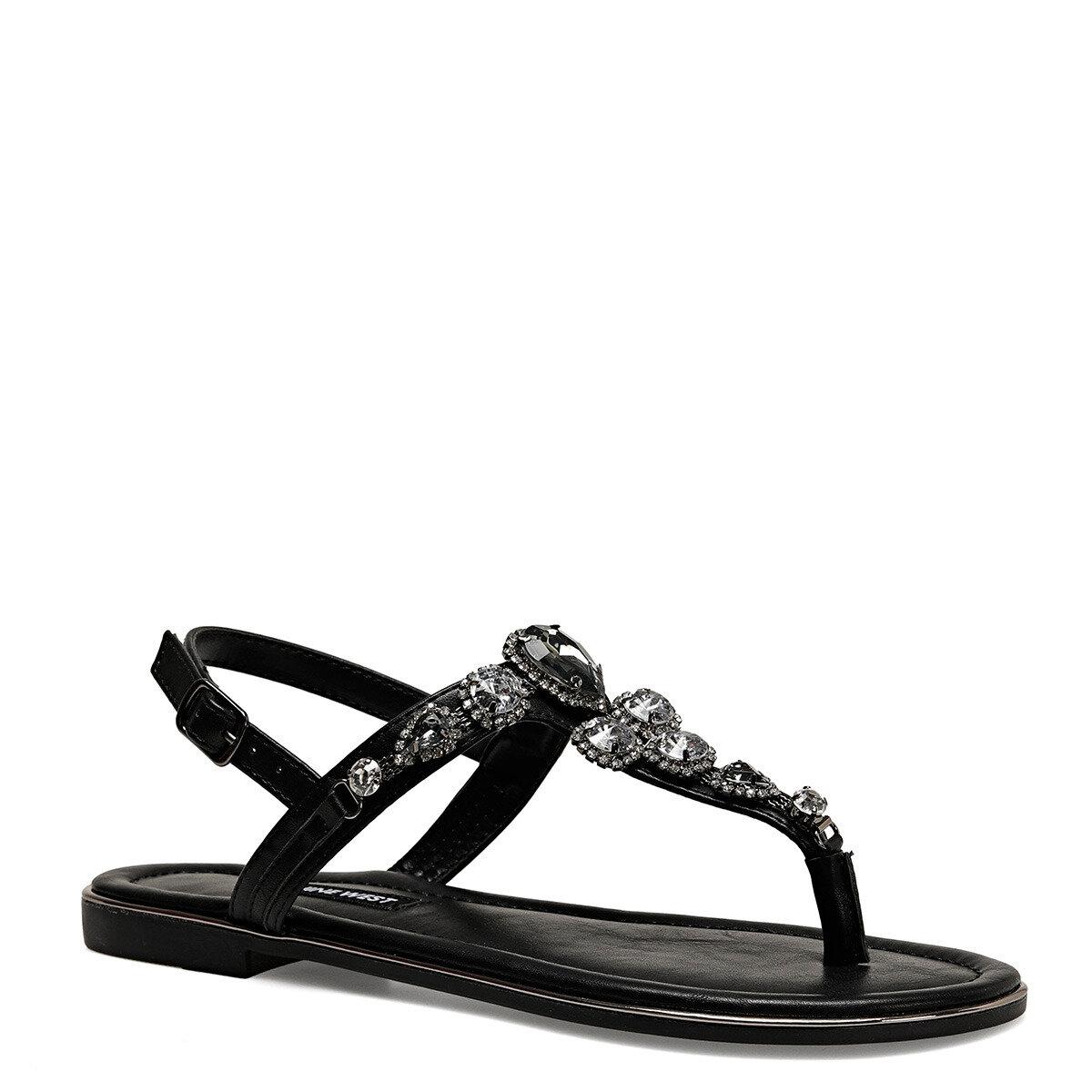 ZULI Siyah Kadın Parmak Arası Sandalet