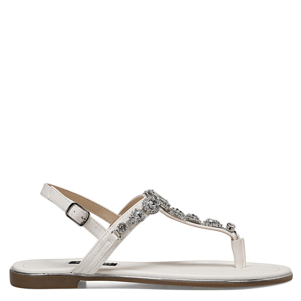 ZULI Beyaz Kadın Parmak Arası Sandalet