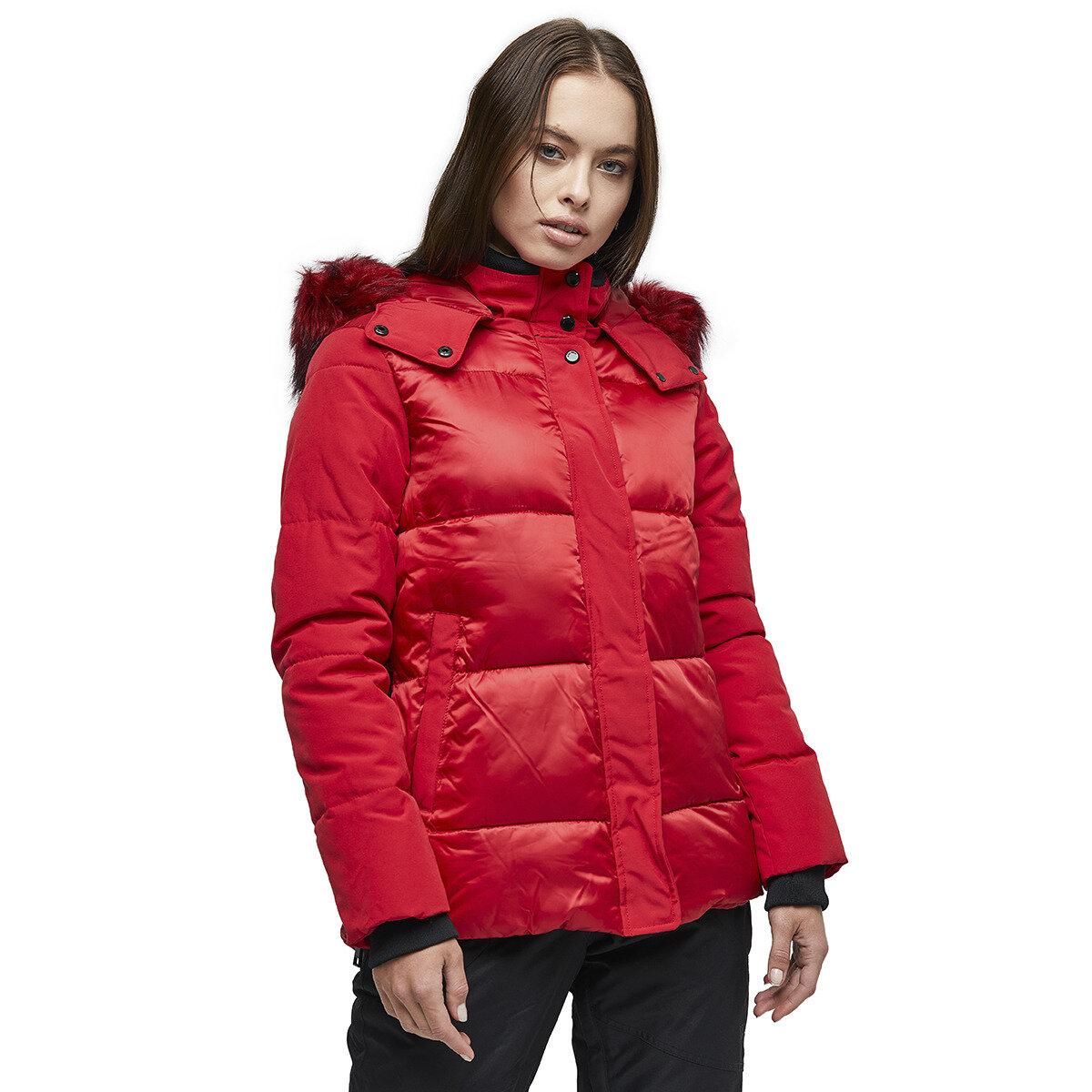 KABAN-U1341 Kırmızı Kadın Kaban