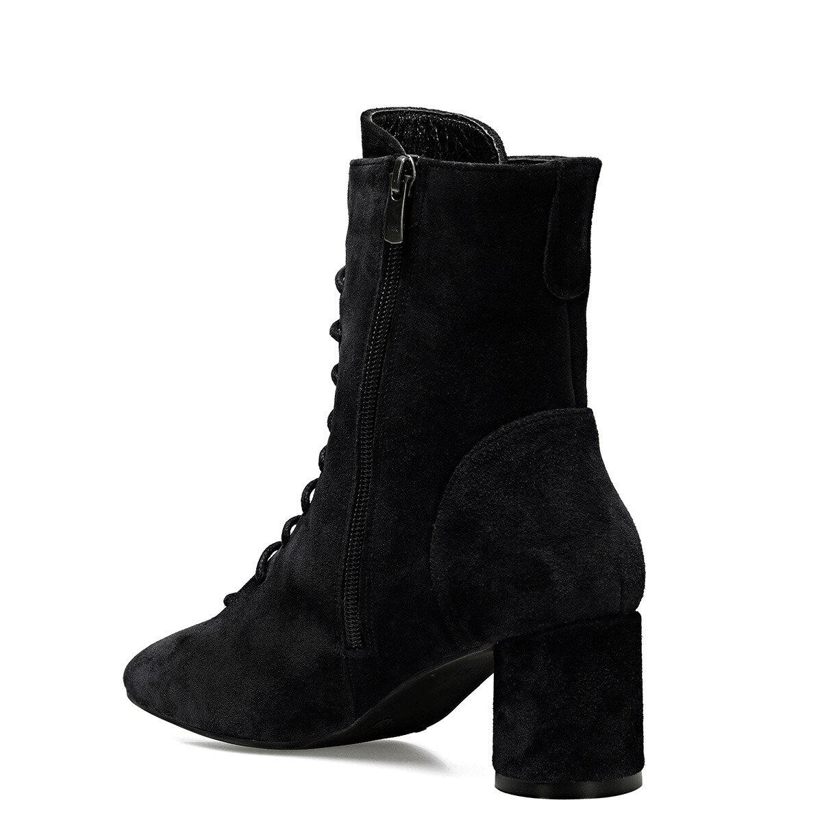 LACESS Siyah Kadın Topuklu Bot